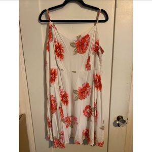Old Navy XXL Fit n Flare pink floral dress